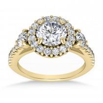 Diamond Fancy Halo Bridal Set 14k Yellow Gold (0.89ct)
