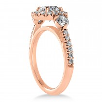 Diamond Fancy Halo Bridal Set 18k Rose Gold (0.89ct)