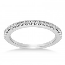 Diamond Accented Wedding Band 14k White Gold (0.21ct)