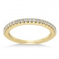 Diamond Accented Wedding Band 14k Yellow Gold (0.21ct)