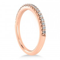 Diamond Accented Wedding Band 18k Rose Gold (0.21ct)