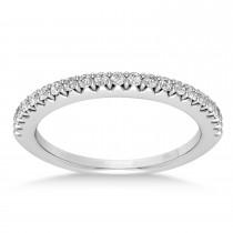 Diamond Accented Wedding Band Platinum (0.21ct)