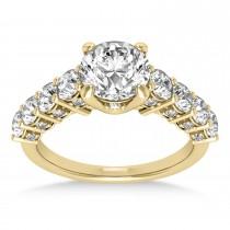 Diamond Prong Set Engagement Ring 14k Yellow Gold (1.06ct)