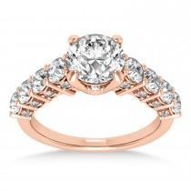 Diamond Prong Set Engagement Ring 18k Rose Gold (1.06ct)