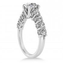 Diamond Prong Set Engagement Ring 18k White Gold (1.06ct)
