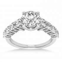 Diamond Prong Set Engagement Ring Platinum (1.06ct)