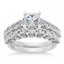 Diamond Prong Set Bridal Set Palladium (2.23ct)