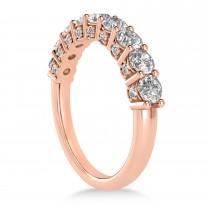 Diamond Prong Set Wedding Band 14k Rose Gold (1.17ct)