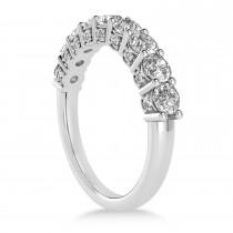 Diamond Prong Set Wedding Band 14k White Gold (1.17ct)