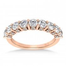 Diamond Prong Set Wedding Band 18k Rose Gold (1.17ct)