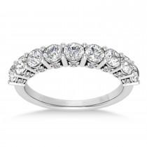 Diamond Prong Set Wedding Band 18k White Gold (1.17ct)