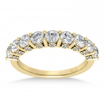 Diamond Prong Set Wedding Band 18k Yellow Gold (1.17ct)