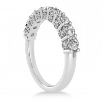 Diamond Prong Set Wedding Band Palladium (1.17ct)