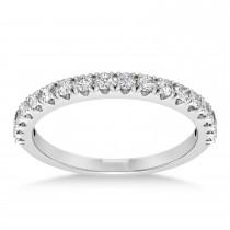 Diamond Accented Halo Bridal Set 14k White Gold (0.97ct)