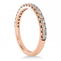 Diamond Accented Halo Bridal Set 18k Rose Gold (0.97ct)