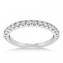Diamond Accented Wedding Band 14k White Gold (0.36ct)