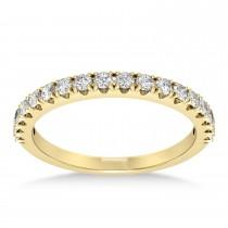 Diamond Accented Wedding Band 14k Yellow Gold (0.36ct)