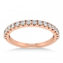 Diamond Accented Wedding Band 18k Rose Gold (0.36ct)