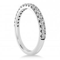 Diamond Accented Wedding Band 18k White Gold (0.36ct)