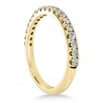 Diamond Accented Wedding Band 18k Yellow Gold (0.36ct)