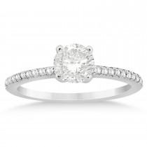 Diamond Accented Bridal Set 14k White Gold 0.39ct