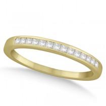 Channel Princess Cut Diamond Bridal Ring Set 14k Yellow Gold (0.35ct)