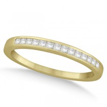 Channel Set Princess Cut Diamond Wedding Band 14k Yellow Gold (0.20ct)