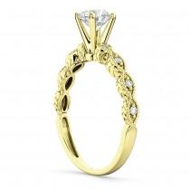 Petite Antique-Design Diamond Engagement Ring 14k Yellow Gold (0.75ct)