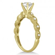 Petite Antique-Design Diamond Engagement Ring 14k Yellow Gold (1.00ct)