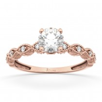 Petite Marquise Diamond Engagement Ring 14k Rose Gold (0.10ct)