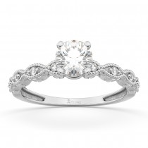 Petite Marquise Diamond Engagement Ring 18k White Gold (0.10ct)