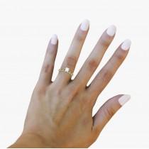 Vintage Diamond & Blue Sapphire Engagement Ring 18k Yellow Gold 0.75ct