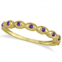 Antique Amethyst Bridal Set Marquise Shape 14K Yellow Gold 0.36ct