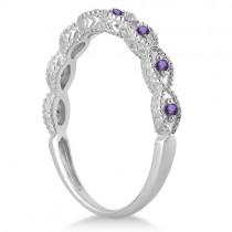 Antique Amethyst Bridal Set Marquise Shape Platinum 0.36ct