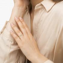 Antique Marquise Shape Aquamarine Wedding Ring 14k Yellow Gold (0.18ct)