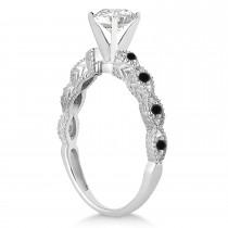 Petite Marquise Black Diamond Engagement Ring Palladium (0.10ct)