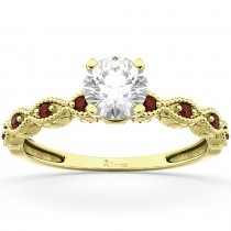Vintage Marquise Garnet Engagement Ring 18k Yellow Gold (0.18ct)