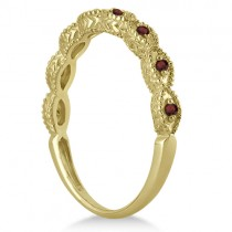 Antique Marquise Shape Garnet Wedding Ring 18k Yellow Gold (0.18ct)