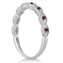 Antique Marquise Shape Garnet Wedding Ring Palladium (0.18ct)