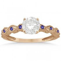 Vintage Marquise Tanzanite Engagement Ring 14k Rose Gold (0.18ct)