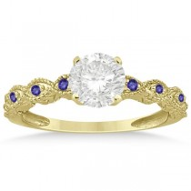 Vintage Marquise Tanzanite Engagement Ring 18k Yellow Gold (0.18ct)