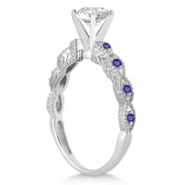 Vintage Marquise Tanzanite Engagement Ring Palladium (0.18ct)