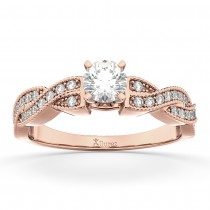 Infinity Twisted Diamond Engagement Ring 18k Rose Gold (0.25ct)