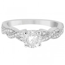 Infinity Twisted Diamond Engagement Ring 18k White Gold (0.25ct)