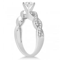 Infinity Style Bridal Set w/ Diamond Accents 18k White Gold (0.55ct)