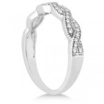 Infinity Style Bridal Set w/ Diamond Accents in Palladium (0.55cts)