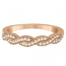 Diamond Infinity Semi-Eternity Wedding Band 14k Rose Gold (0.30ct)