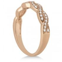Diamond Infinity Semi Eternity Wedding Band 18k Rose Gold (0.30ct)