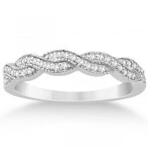 Diamond Infinity Semi Eternity Wedding Band in Platinum (0.30ct)