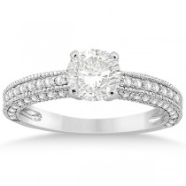 Vintage Heirloom Diamond Engagement Ring in Platinum (0.60ct)